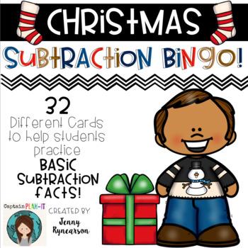 Christmas Subtraction BINGO! 32 different cards!!!