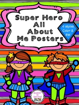 All About Me Super Hero Themed