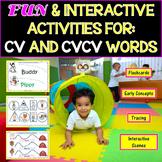 Speech Therapy: Interactive Activities For CV & CVCV Words & Pre-K Concepts!