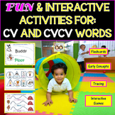 Speech Therapy: Interactive Activities For CV & CVCV Words