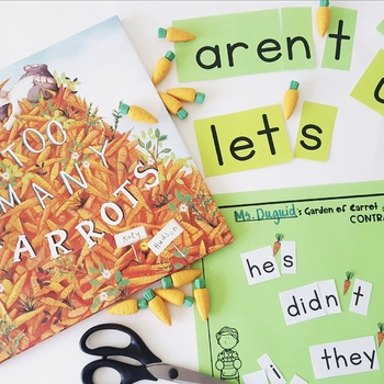 Carrot Contractions > PACK of Spring / Easter Themed Activities!