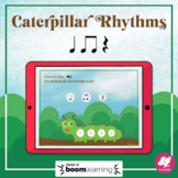 Caterpillar Rhythms: Quarter Note, Rest, 8th Notes - BOOM Cards