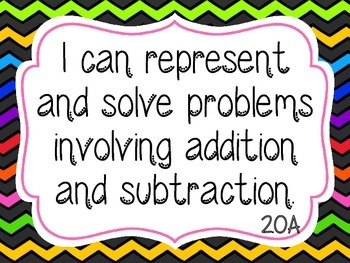 I Can Math Statements Common Core- 2nd Grade Posters