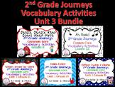 Journeys Unit 3 Bundle Vocabulary Activities 2nd grade