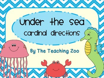 Ocean Under the Sea Cardinal Directions Signs