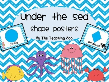 Ocean Under the Sea Shape Identification Posters