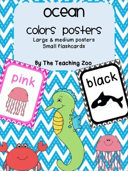 Ocean Under the Sea Theme Color Identification Posters
