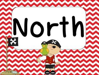 Pirates Cardinal Directions Signs