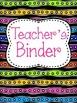 Rainbow Teacher Binder Covers