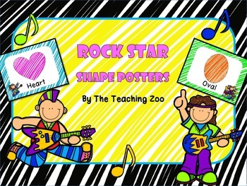 Rock Star Shape Identification Posters