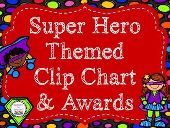 Super Hero Theme Behavior Clip Chart