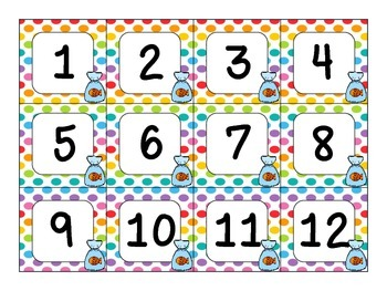 Carnival Theme Calendar Number Cards