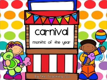 Carnival Theme Months of the Year Signs