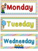 Carnival Themed Days of the Week