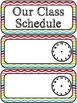 Class Schedule Cards- Add your own time