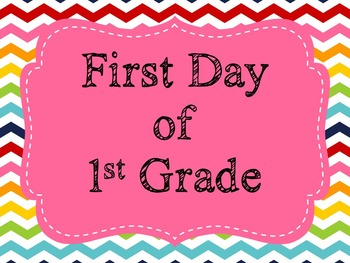 First & Last Day of School Signs K-6