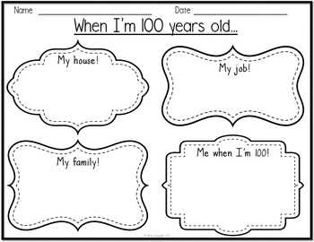 100th Day Activities with Math and Writing Activities