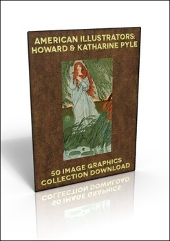 50 out of copyright illustrations by Howard & Katharine Pyle