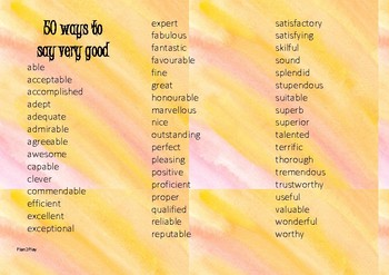 50 positive words for reporting
