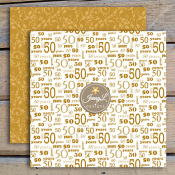50th Wedding Anniversary Digital Papers