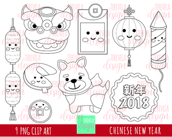 50% sale CHINESSE NEW YEAR digital stamp, china clipart