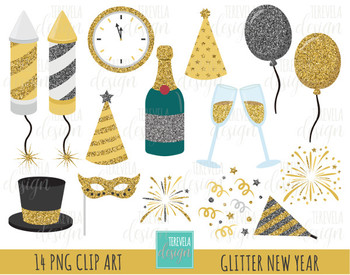 50% sale Glitter NEW YEAR clipart, glitter clipart, happy new year graphic