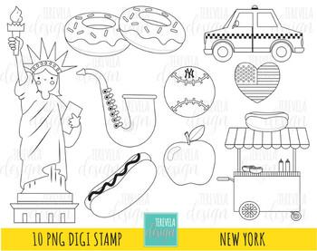 50% sale NEW YORK digi stamp, big apple stamp, travel