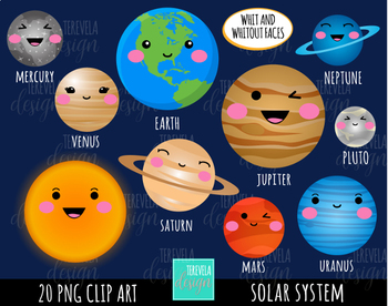solar system clipart by terevela design teachers pay teachers rh teacherspayteachers com solar system clipart png solar system clip art for kids