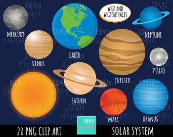 SOLAR SYSTEM CLIPART