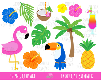 Summer tropical. Sale clipart flamingo
