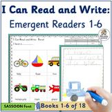 Emergent Readers for Kindergarten  Books 1-6   SASSOON Font