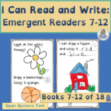 Emergent Readers for Kindergarten  Books 7-12   Open Dyslexic Font