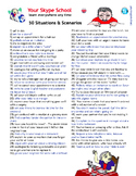 50 scenarios and role-playing situations