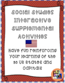 50 states and Capitals Supplemental Activities/Games