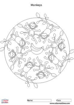 50 thematic Mandalas for kids