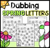Dabbing the Alphabet with Flowers Kindergarten or Preschool