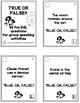 50 true or false question cards - ESL - ELL conversation prompts