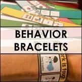 50 visual BEHAVIOR bracelets. EDITABLE. Autism, speech, social, emotional.