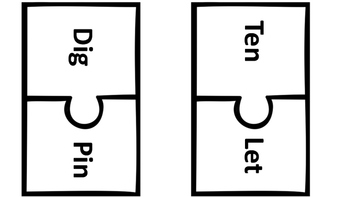 50 word puzzles Short and Long Vowel Matching