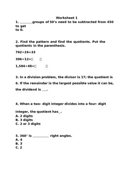 4th  grade test prep  worksheets 1, with answer keys