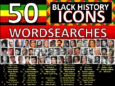 50 x Black History Month Famous People Icons Wordsearches