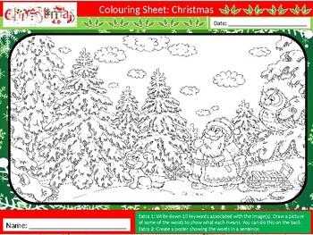 50 x Christmas Coloring Colouring Sheets Keyword Starter ...