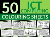 50 x Computers Coloring Colouring Sheets Starter Settler C