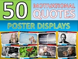 50 x Motivational Famous Quotes Posters for Classroom Display or Handouts