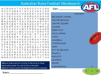 50 x Sports Wordsearches PE Fitness Health Starter Settler Activity Homework