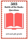 503 3rd and 4th Grade BATTLE OF THE BOOKS Practice Questions