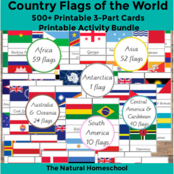 image about Printable Country Flags known as 500+ Nation Flags of the Globe Printable 3-Section Playing cards MEGA Offer