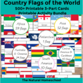 500+ Country Flags of the World Printable 3-Part Cards MEG