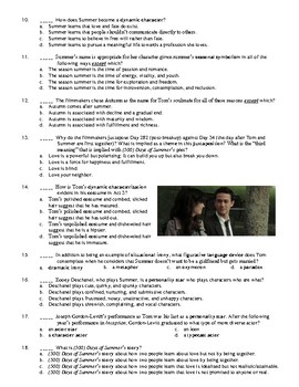 500 Days of Summer Film (2009) 25-Question Multiple Choice Quiz