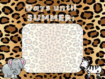 500 Follower Celebration! Day 2 Freebie - Zoo Animal Summer Countdown Poster